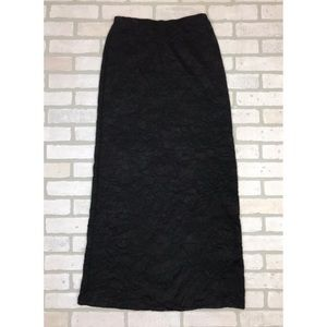 Nicole Miller Collection Crinkle Maxi Skirt